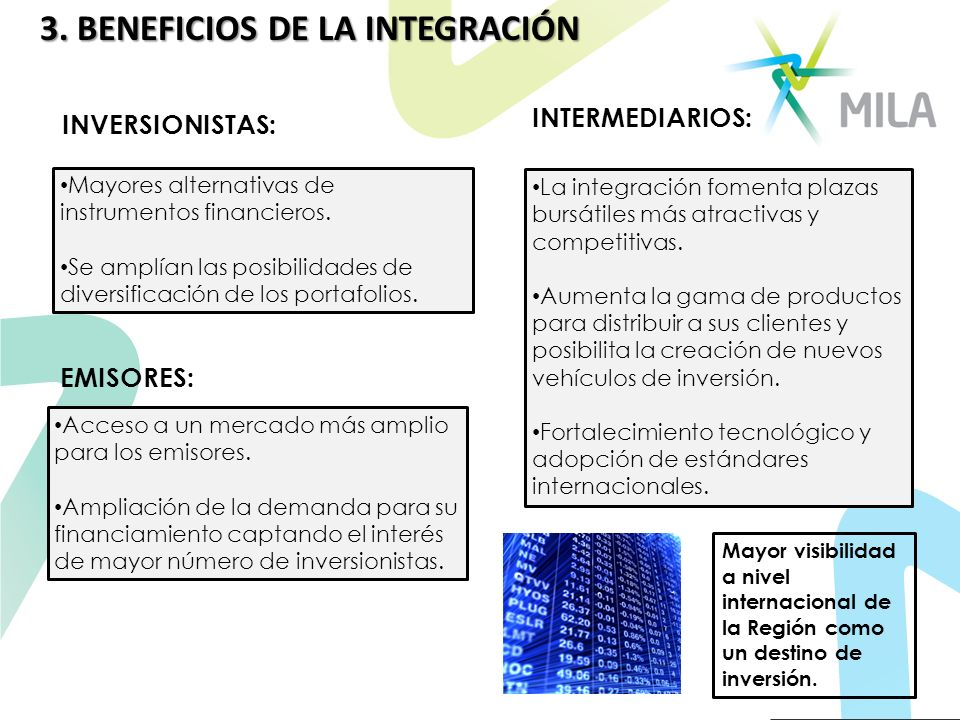 3. BENEFICIOS DE LA INTEGRACIÓN
