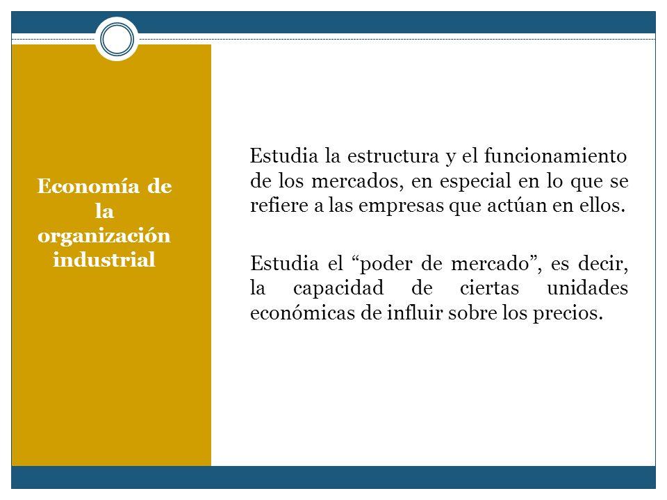 Economía de la organización industrial