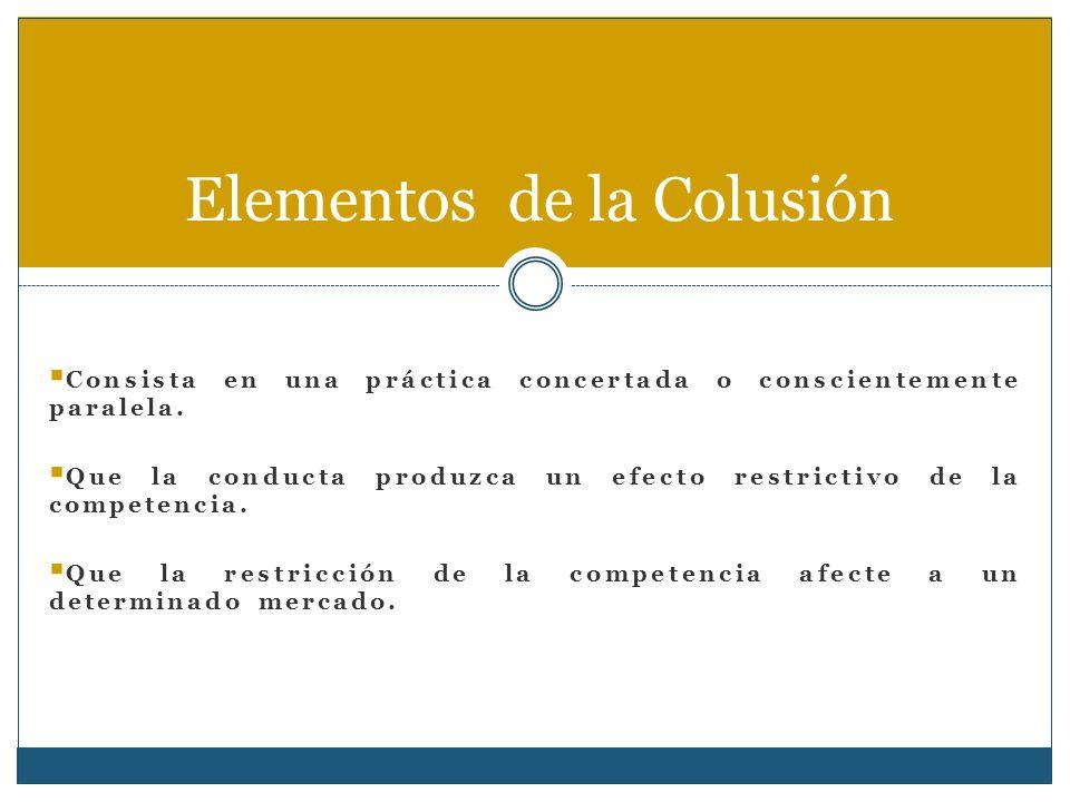 Elementos de la Colusión