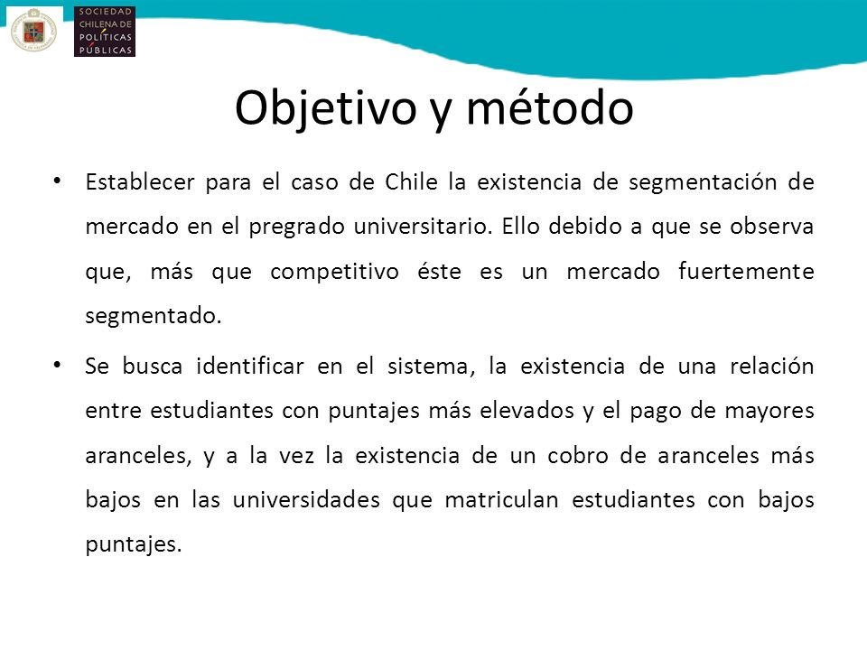 Objetivo y método