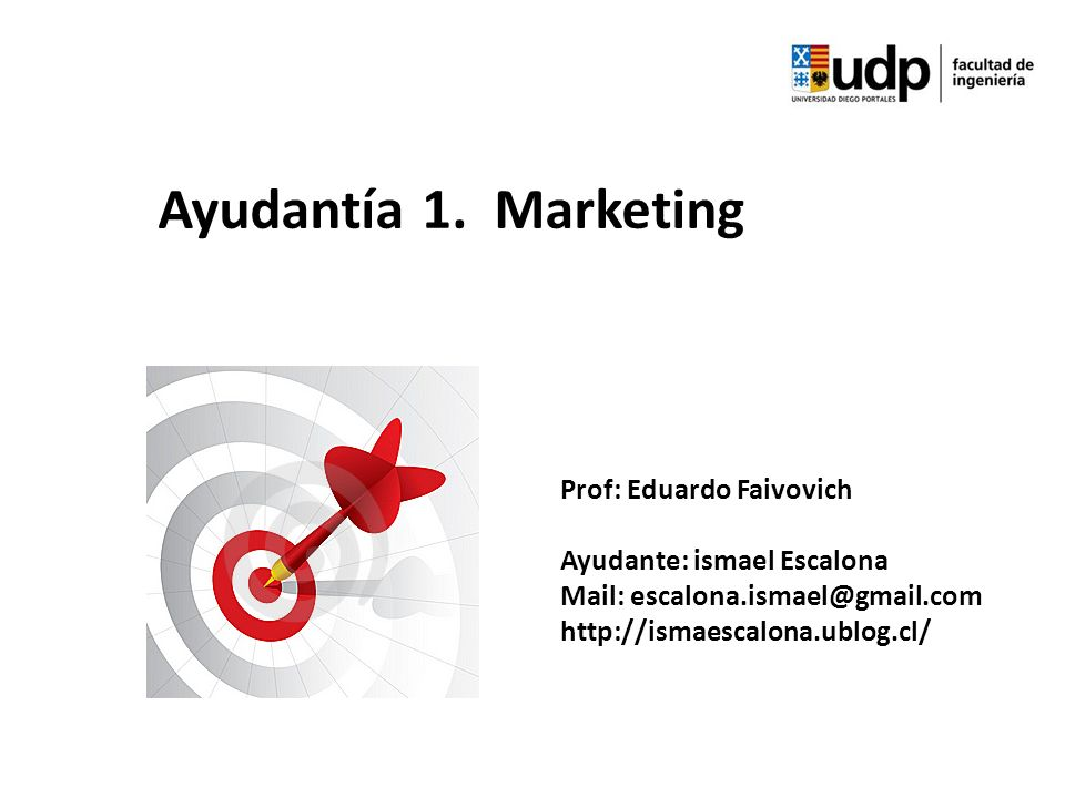 Ayudantía 1. Marketing Prof: Eduardo Faivovich