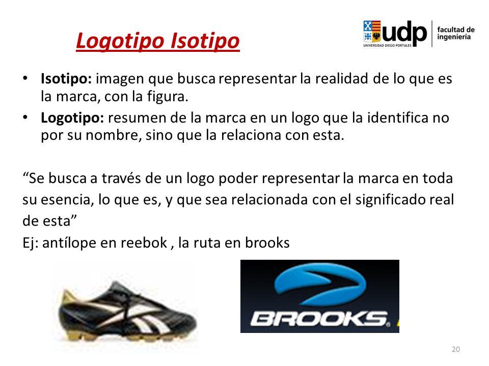 Logotipo Isotipo Isotipo: imagen que busca representar la realidad de lo que es la marca, con la figura.