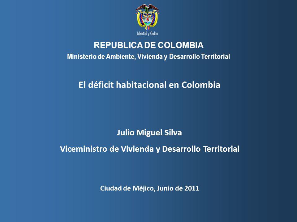 El déficit habitacional en Colombia