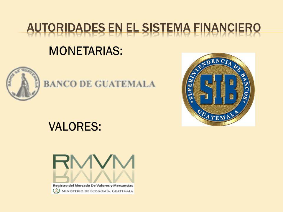 Autoridades EN EL SISTEMA FINANCIERO