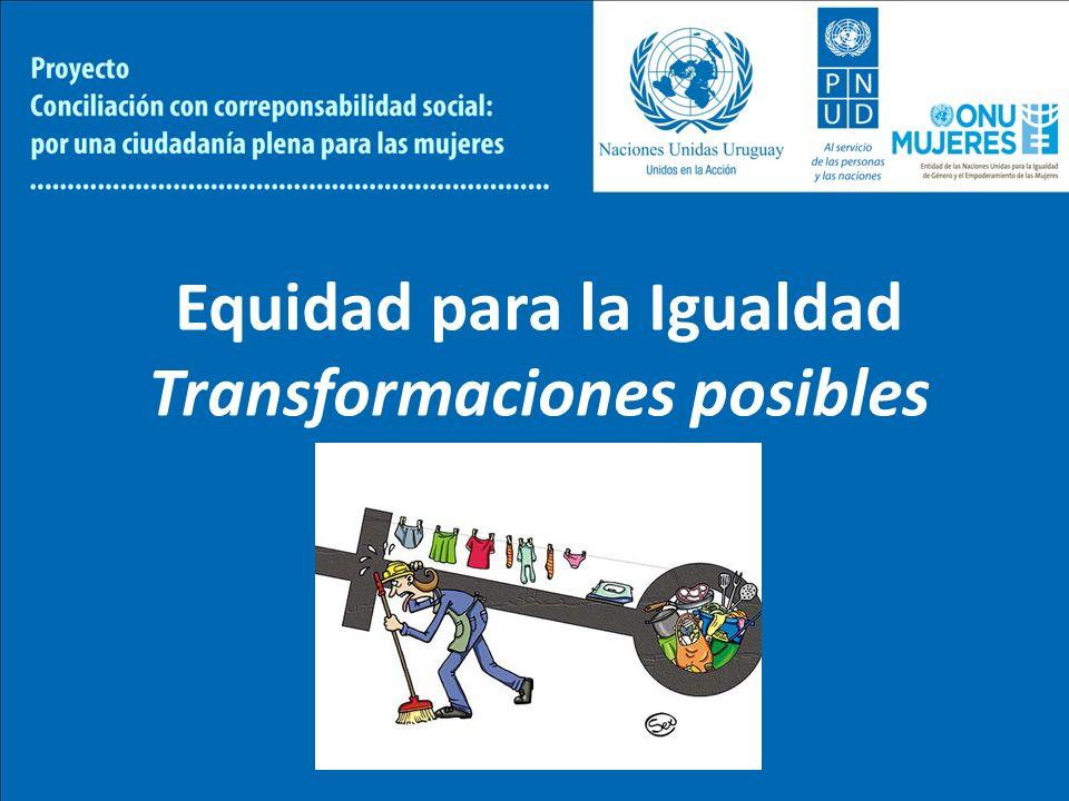 Equidad para la Igualdad Transformaciones posibles