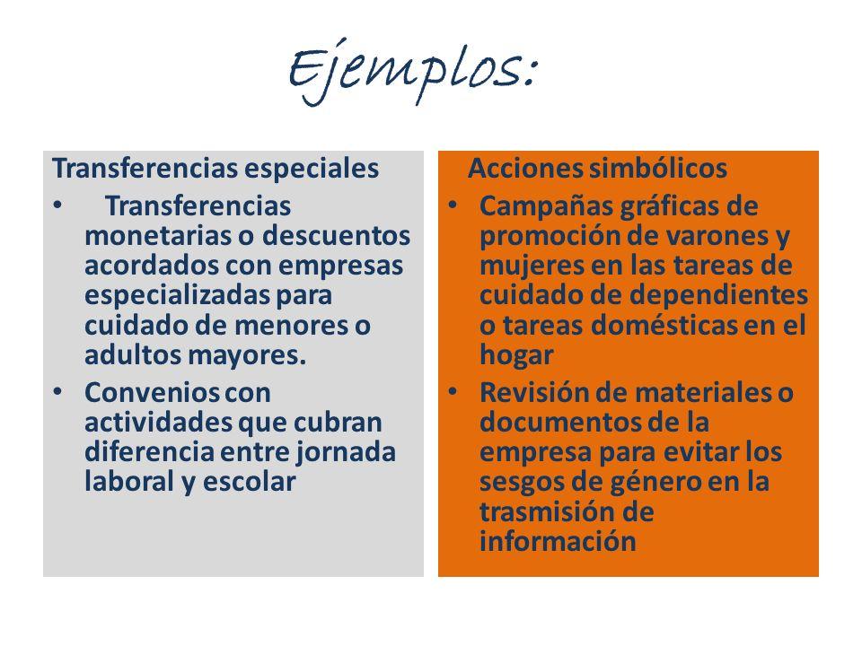 Ejemplos: Transferencias especiales