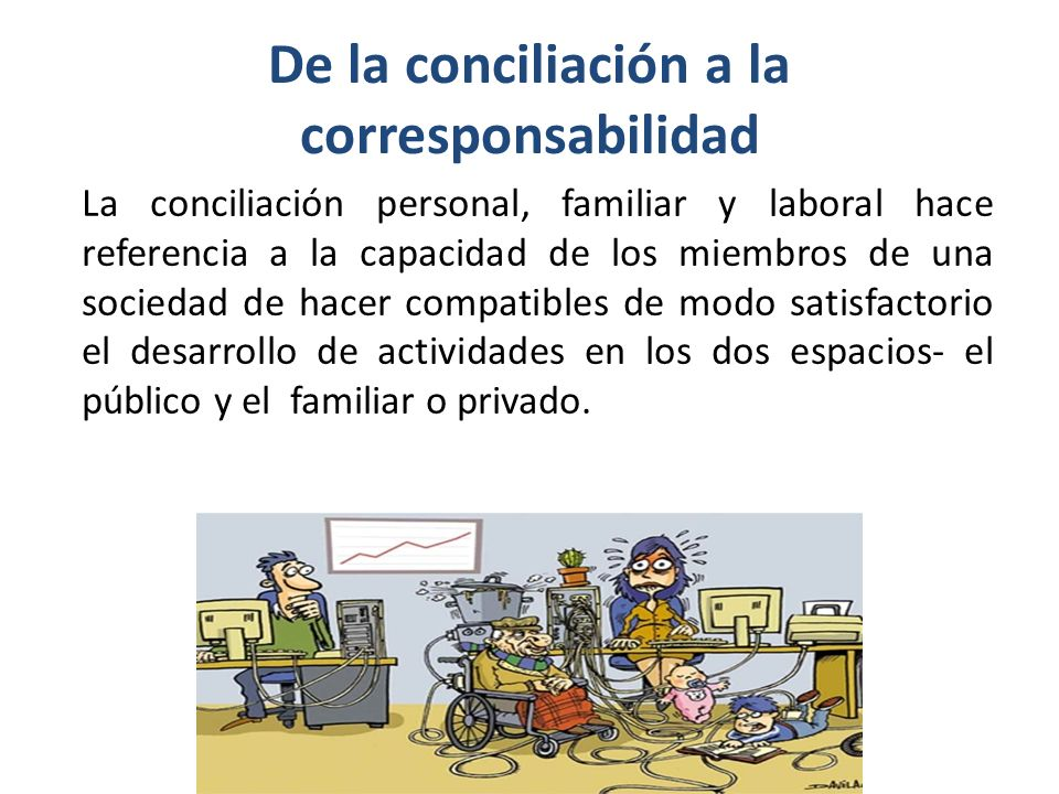 De la conciliación a la corresponsabilidad
