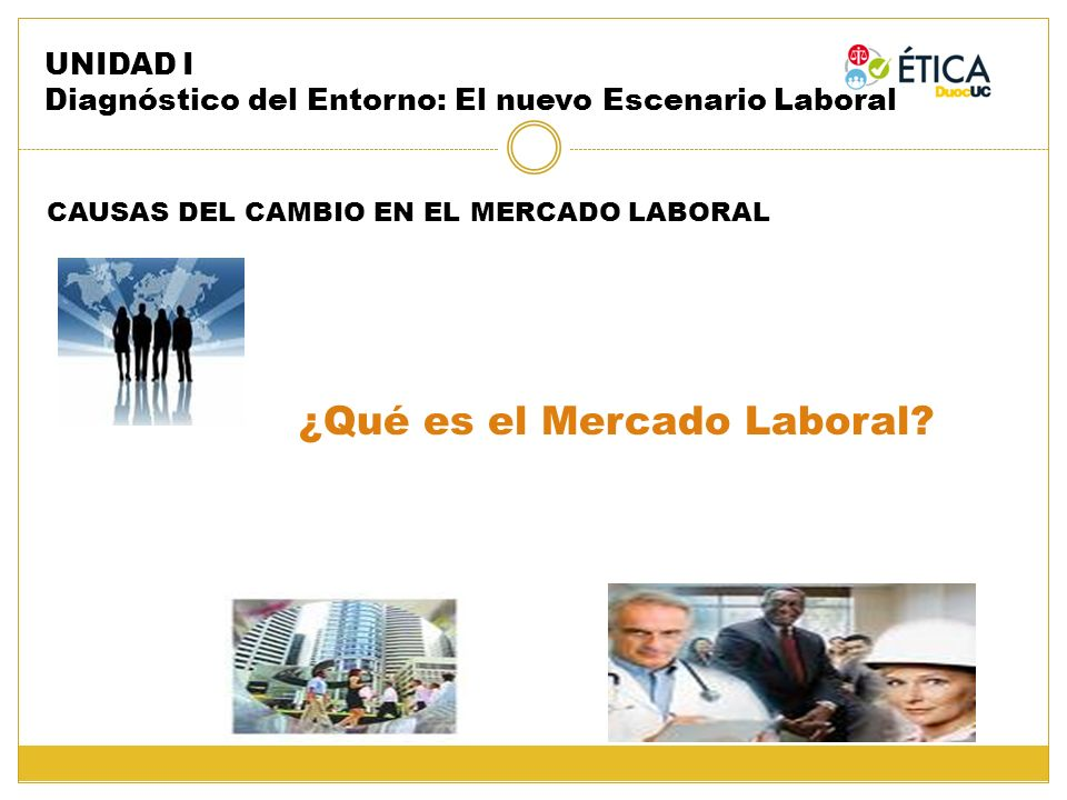 CAUSAS DEL CAMBIO EN EL MERCADO LABORAL ¿Qué es el Mercado Laboral