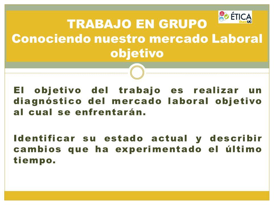 TRABAJO EN GRUPO Conociendo nuestro mercado Laboral objetivo