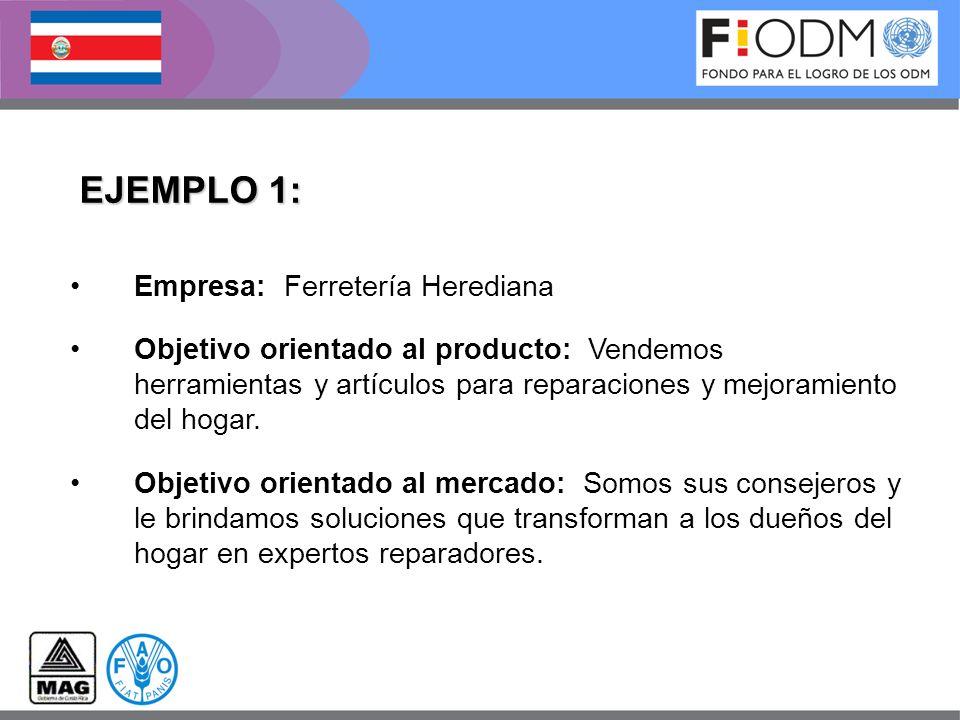 EJEMPLO 1: Empresa: Ferretería Herediana