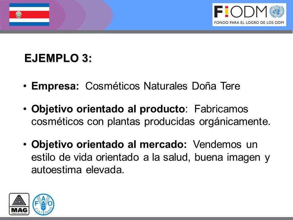 EJEMPLO 3: Empresa: Cosméticos Naturales Doña Tere