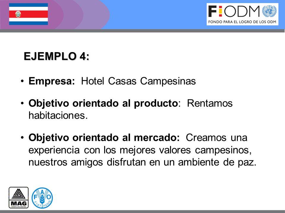 EJEMPLO 4: Empresa: Hotel Casas Campesinas