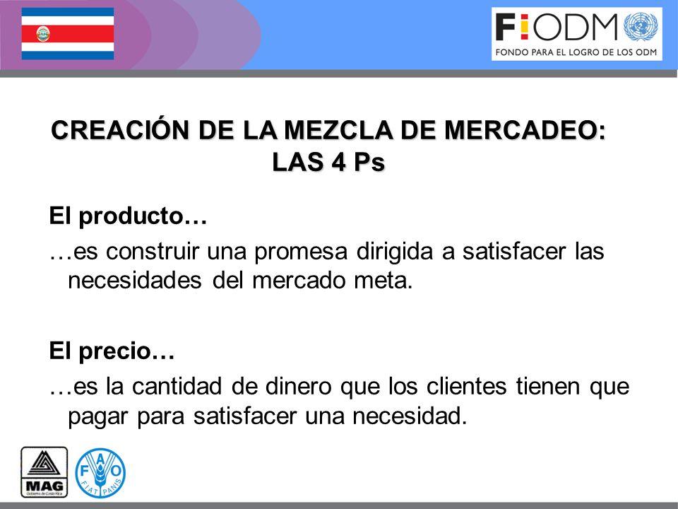 CREACIÓN DE LA MEZCLA DE MERCADEO: LAS 4 Ps
