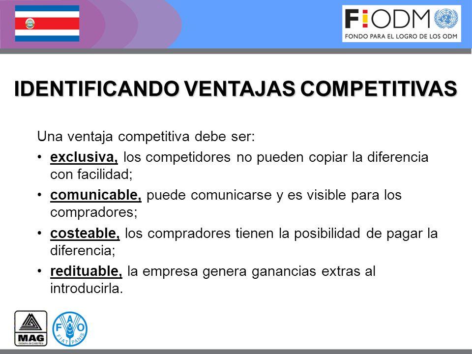 IDENTIFICANDO VENTAJAS COMPETITIVAS