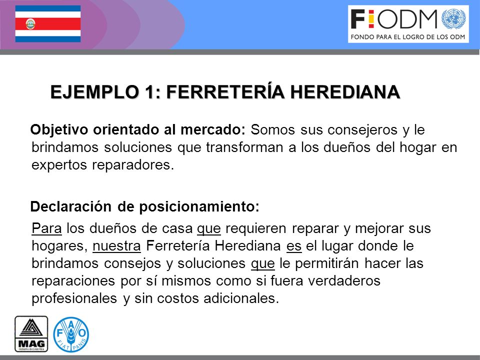 EJEMPLO 1: FERRETERÍA HEREDIANA