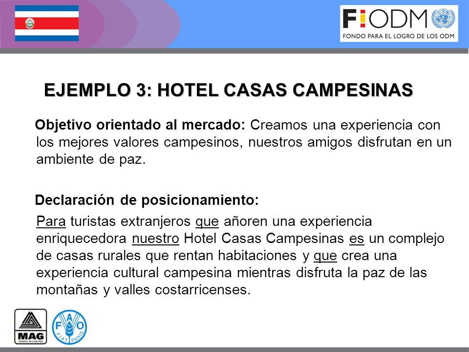 EJEMPLO 3: HOTEL CASAS CAMPESINAS