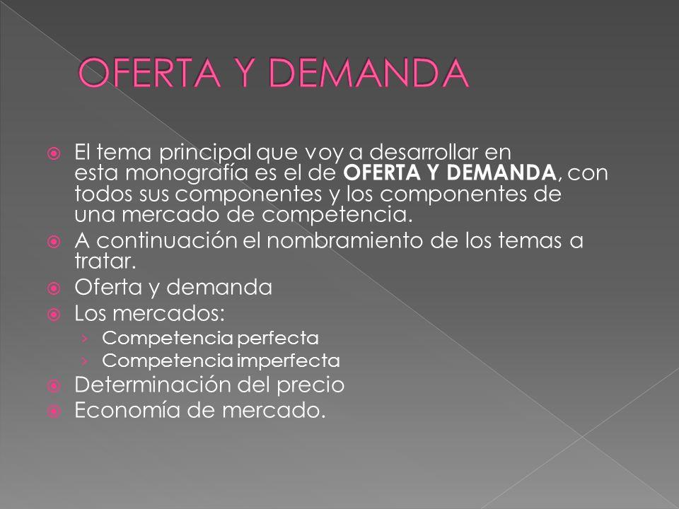 OFERTA Y DEMANDA