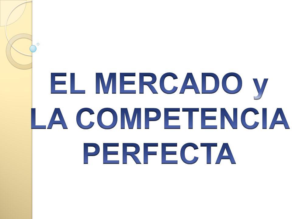 EL MERCADO y LA COMPETENCIA PERFECTA