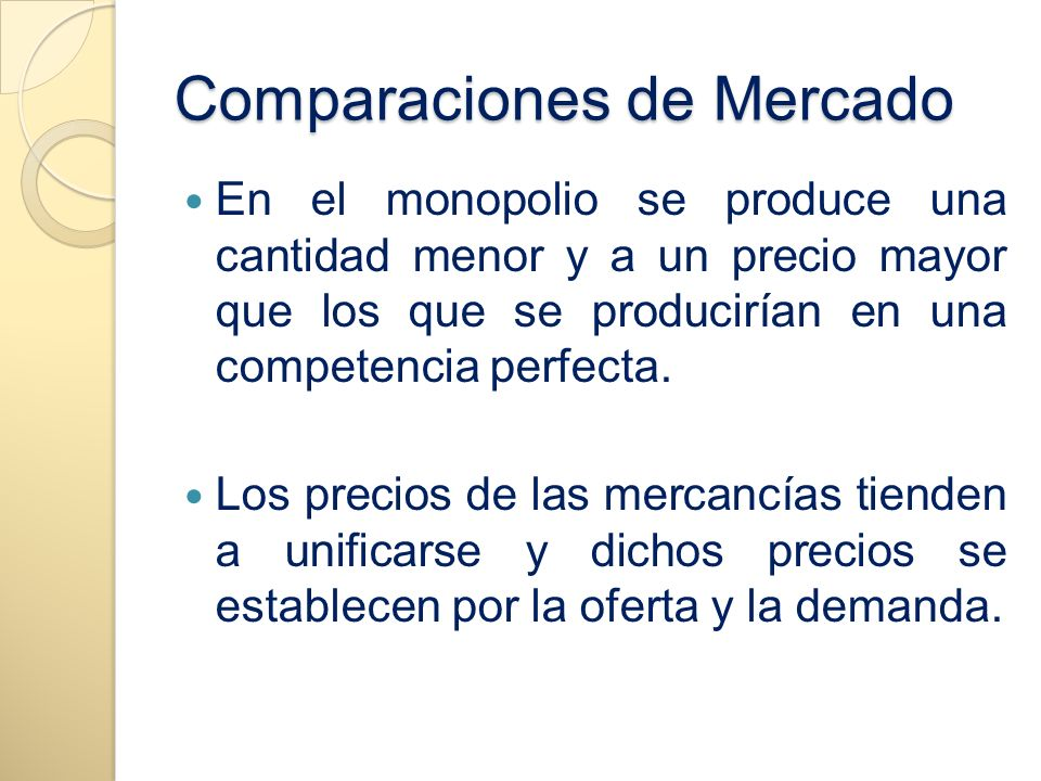 Comparaciones de Mercado