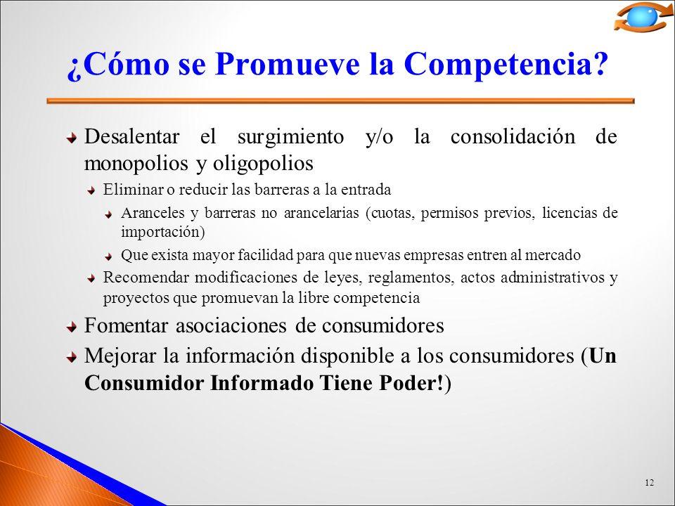 ¿Cómo se Promueve la Competencia