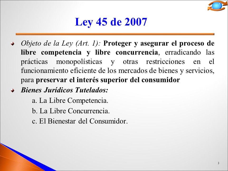 Ley 45 de 2007