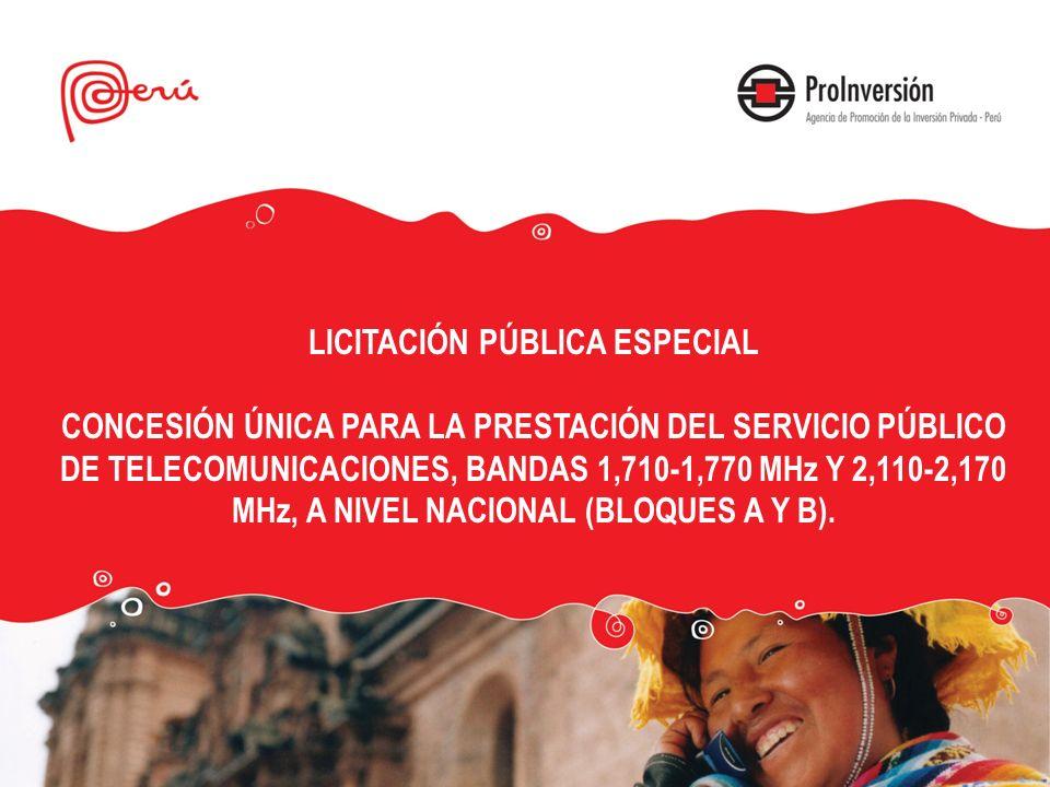 LICITACIÓN PÚBLICA ESPECIAL