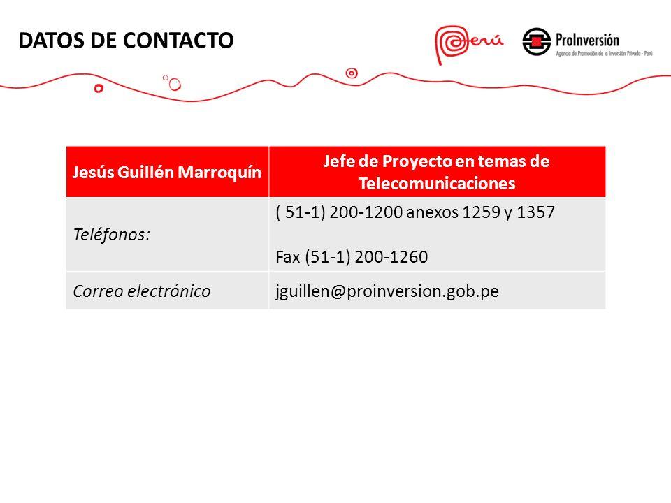 DATOS DE CONTACTO Jesús Guillén Marroquín