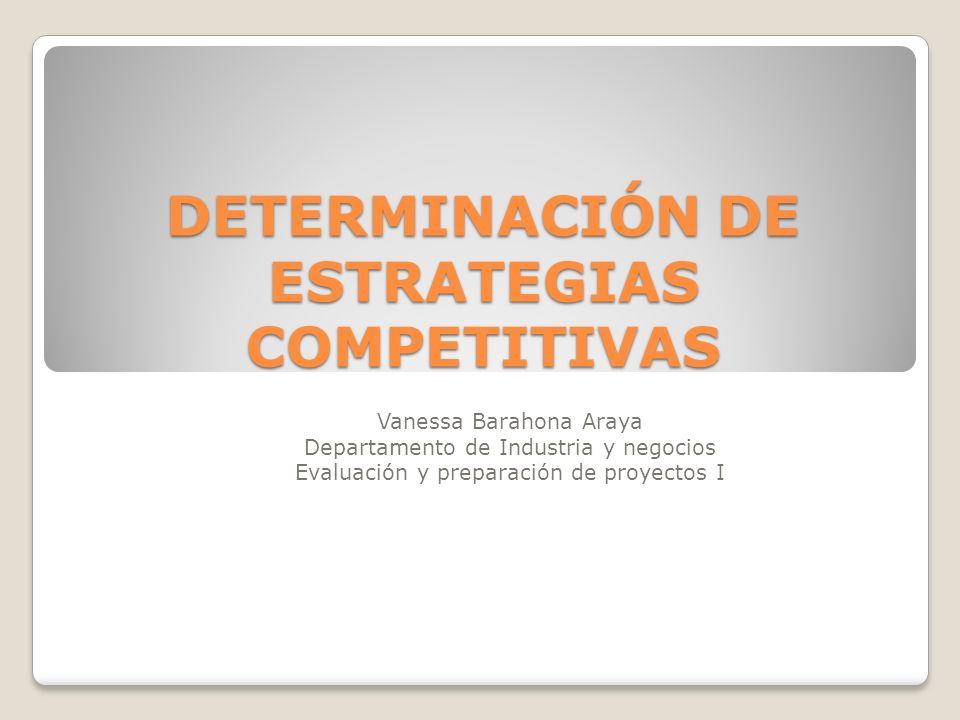DETERMINACIÓN DE ESTRATEGIAS COMPETITIVAS