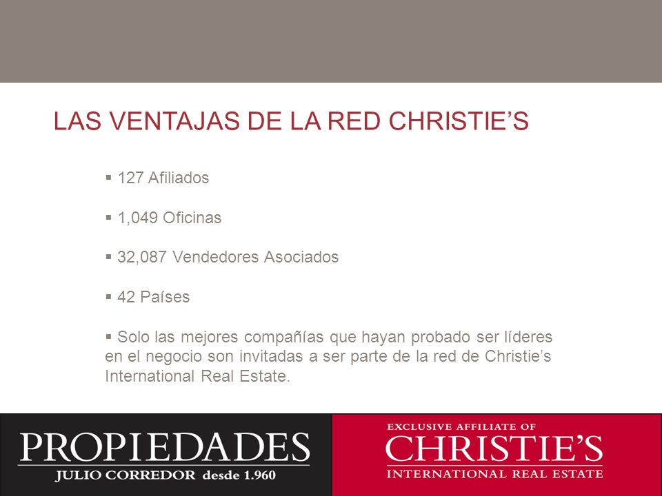 LAS VENTAJAS DE LA RED CHRISTIE'S