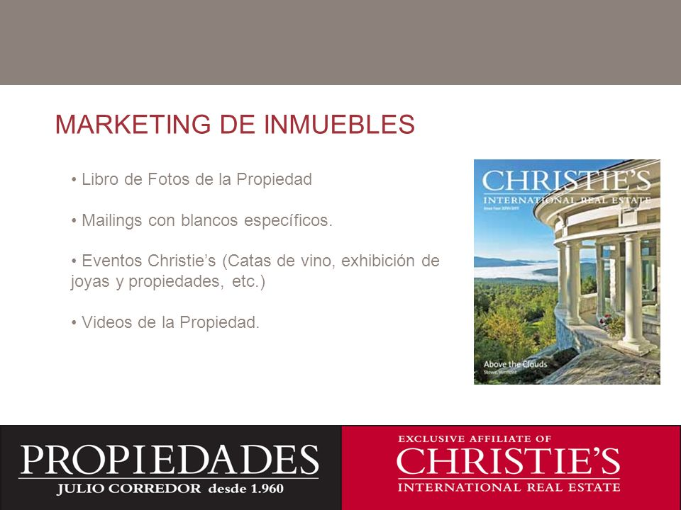 MARKETING DE INMUEBLES