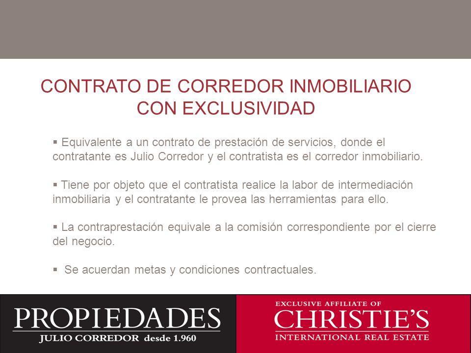 CONTRATO DE CORREDOR INMOBILIARIO CON EXCLUSIVIDAD