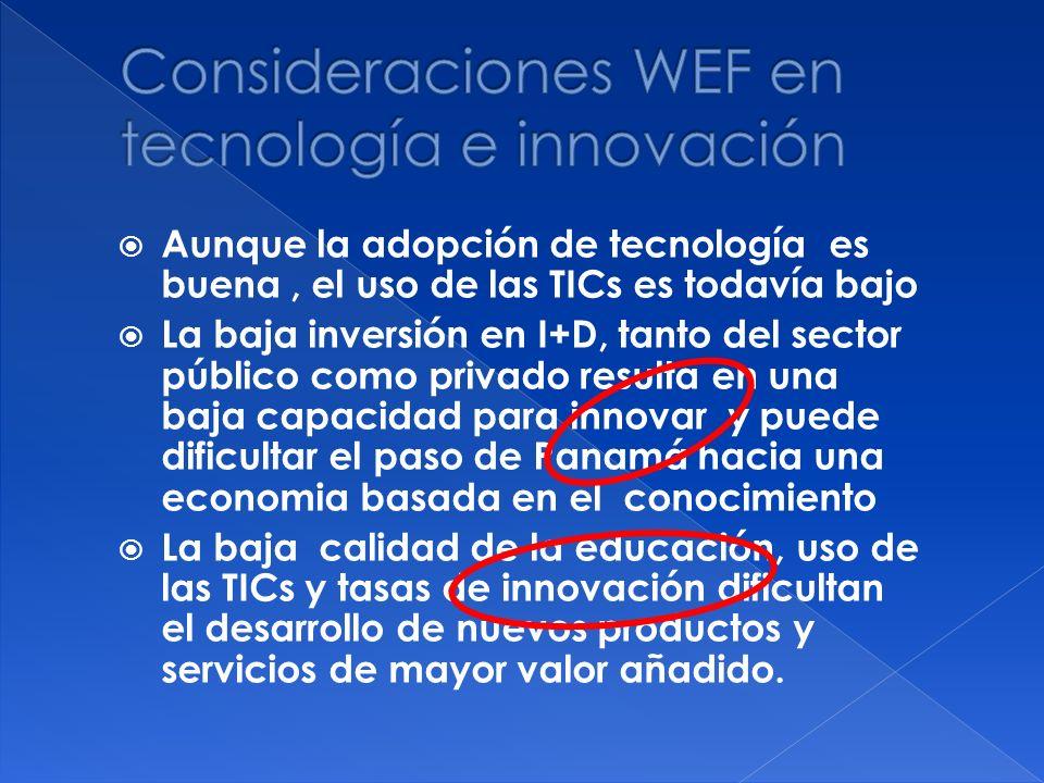 Consideraciones WEF en tecnología e innovación