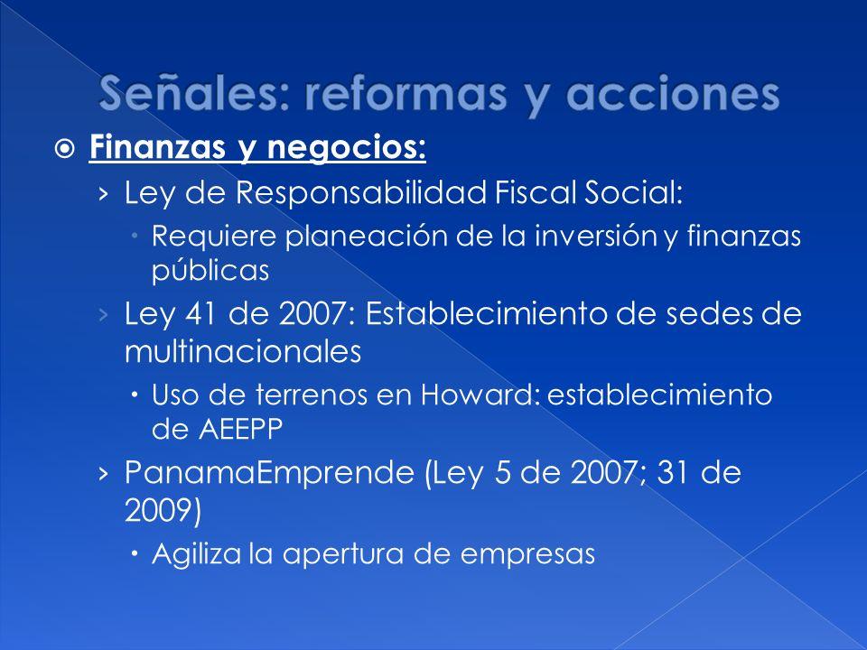 Señales: reformas y acciones