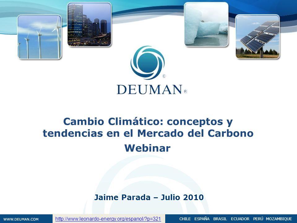 Cambio Climático: conceptos y tendencias en el Mercado del Carbono