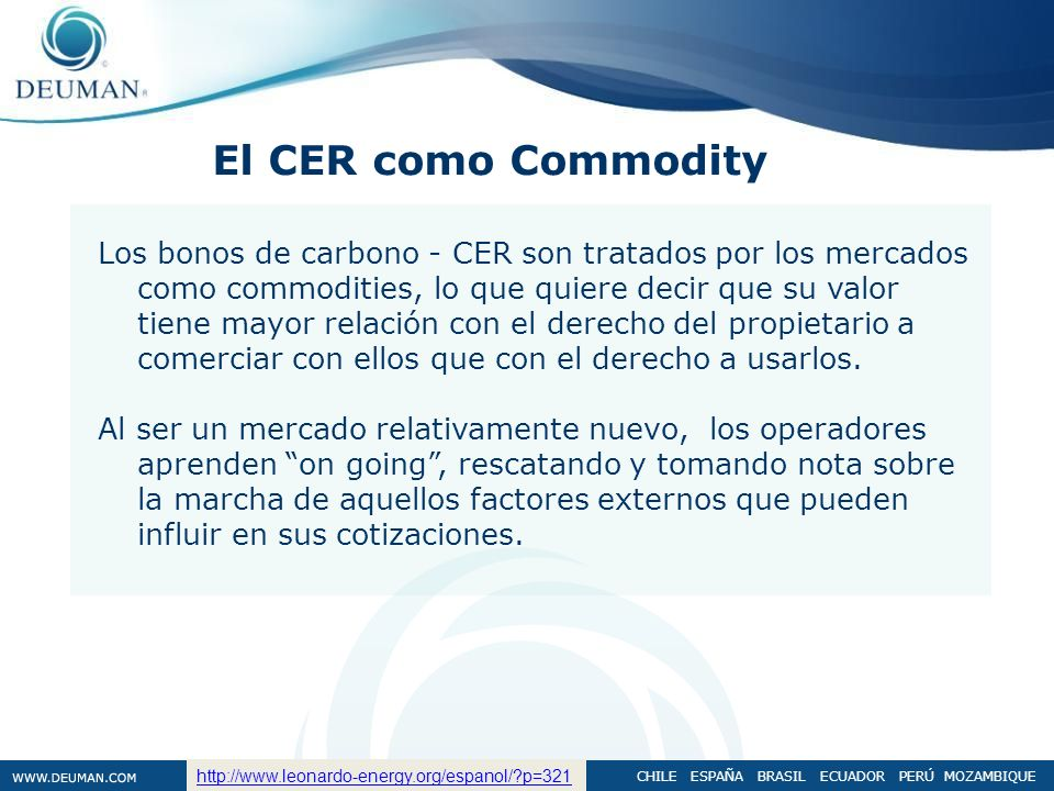El CER como Commodity