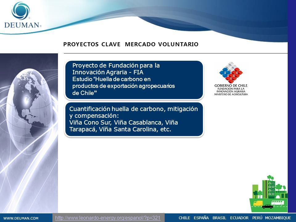 PROYECTOS CLAVE MERCADO VOLUNTARIO