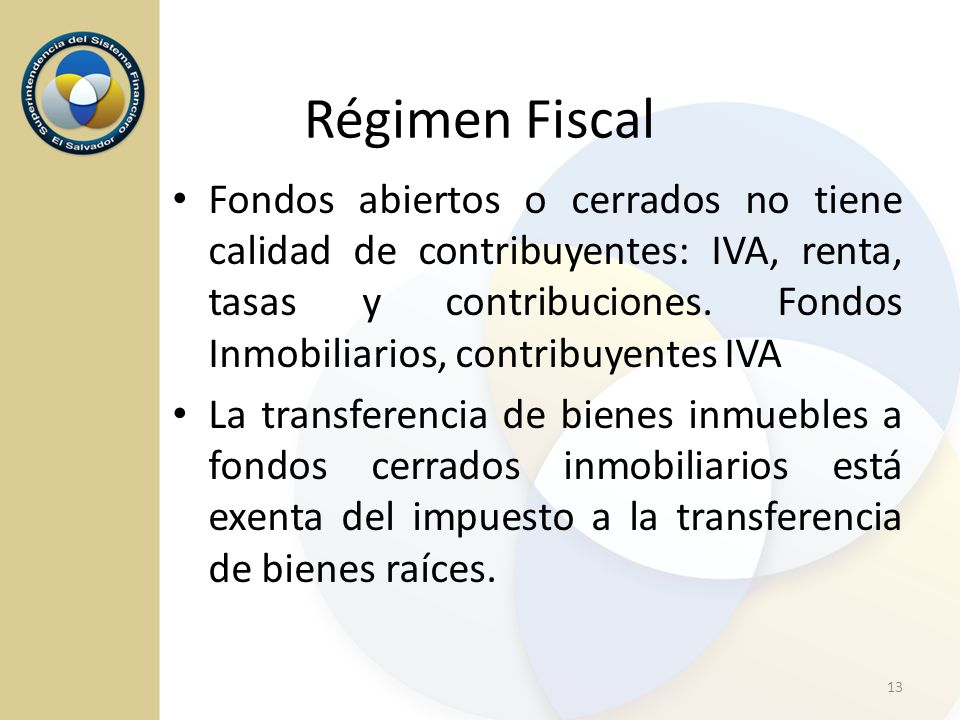 Régimen Fiscal