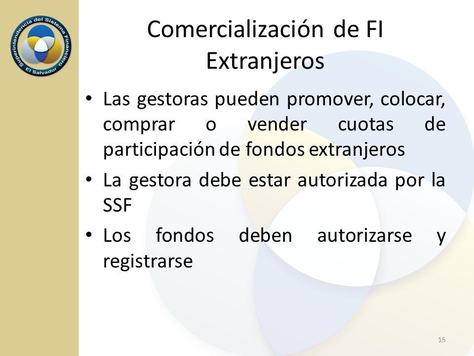 Comercialización de FI Extranjeros