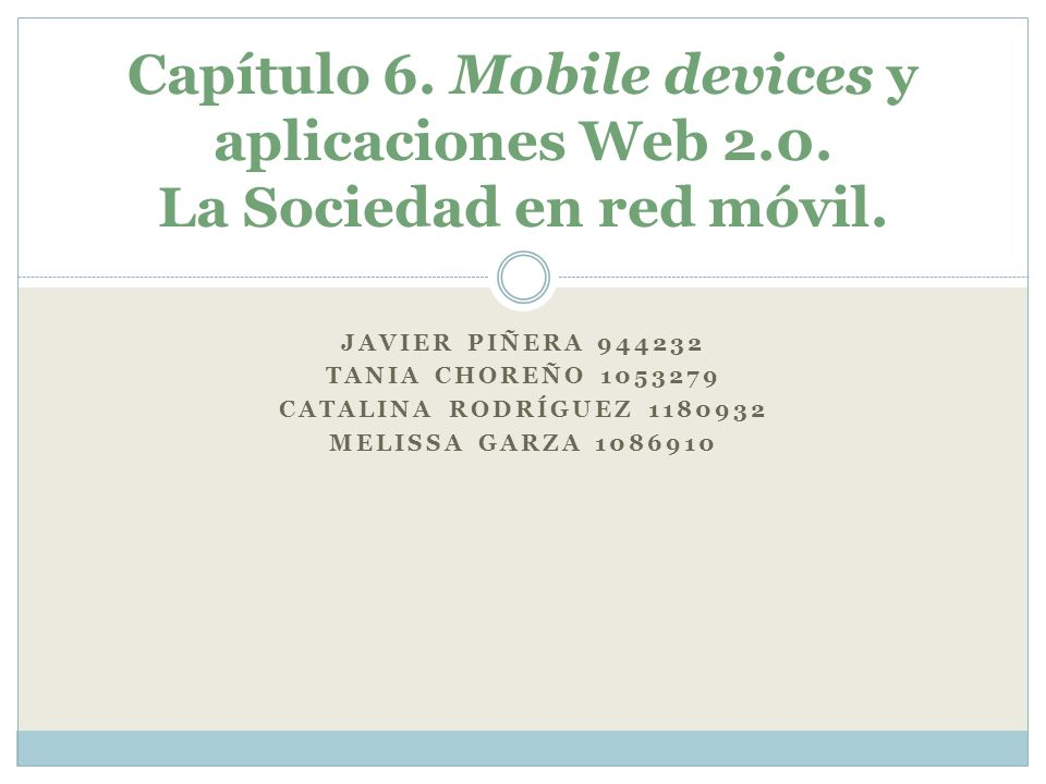 Capítulo 6. Mobile devices y aplicaciones Web 2