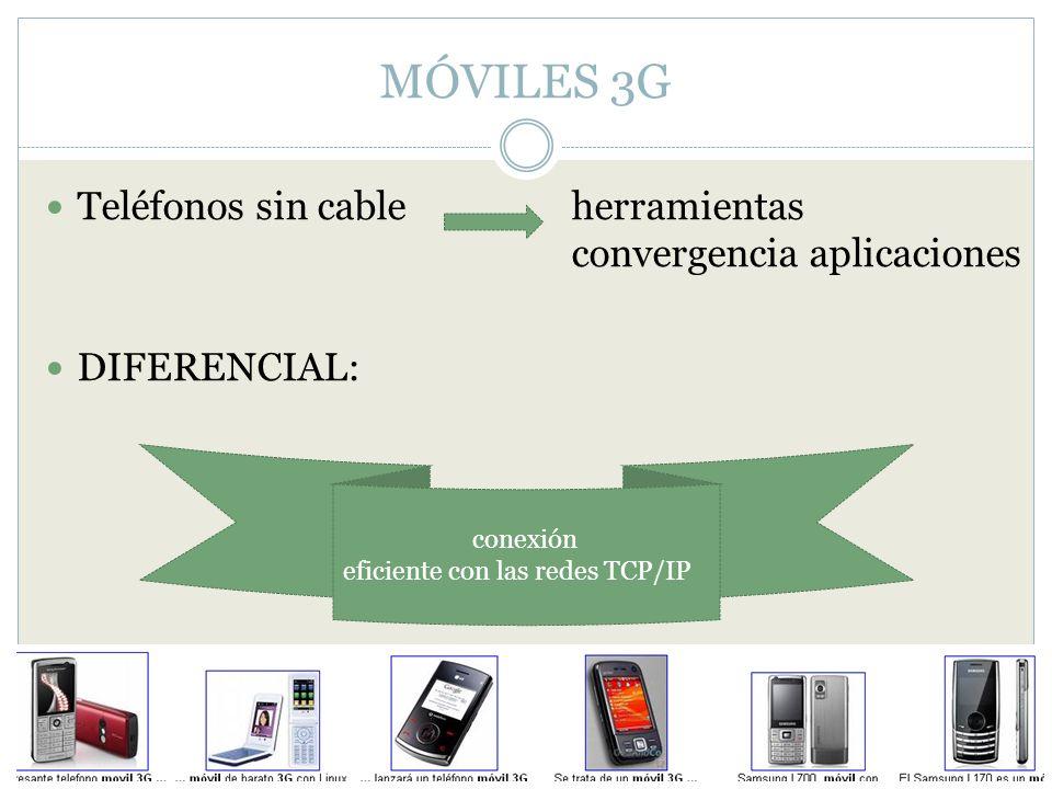 MÓVILES 3G Teléfonos sin cable herramientas convergencia aplicaciones