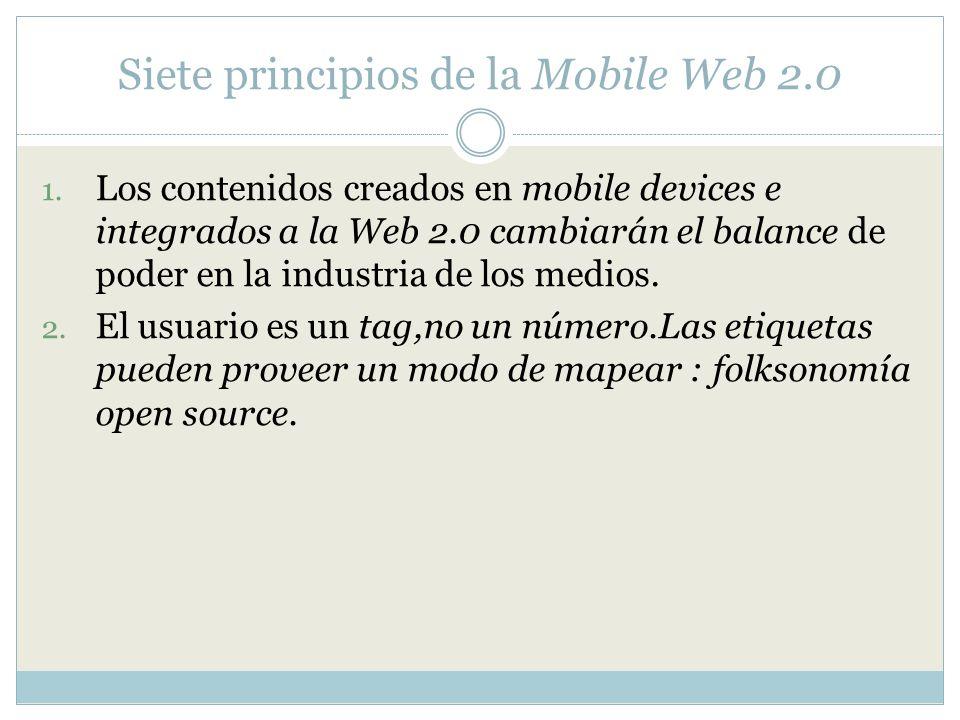 Siete principios de la Mobile Web 2.0