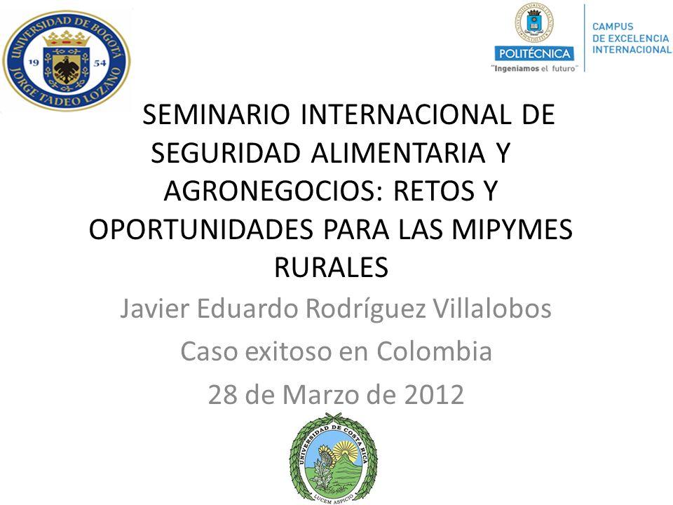 SEMINARIO INTERNACIONAL DE SEGURIDAD ALIMENTARIA Y AGRONEGOCIOS: RETOS Y OPORTUNIDADES PARA LAS MIPYMES RURALES