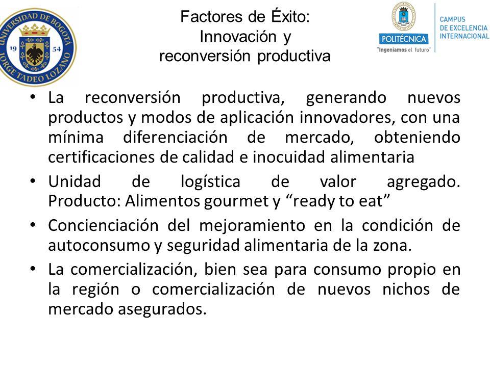 Factores de Éxito: Innovación y reconversión productiva