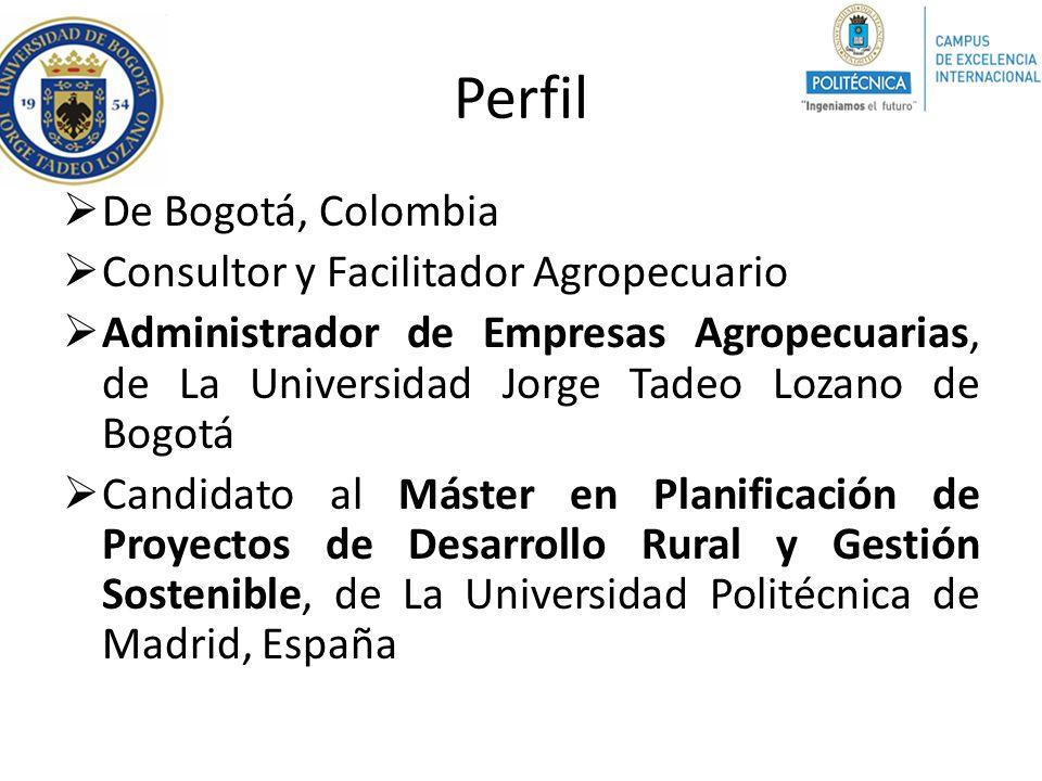 Perfil De Bogotá, Colombia Consultor y Facilitador Agropecuario