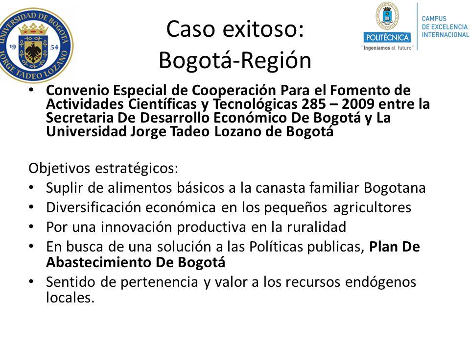 Caso exitoso: Bogotá-Región