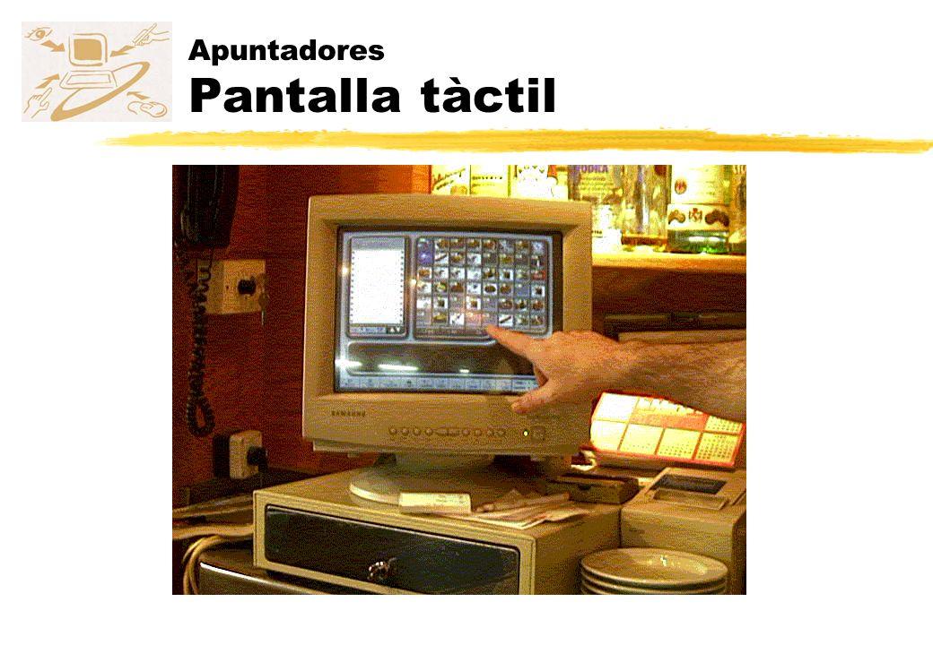 Apuntadores Pantalla tàctil