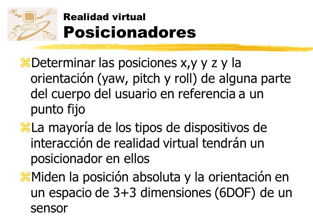 Realidad virtual Posicionadores
