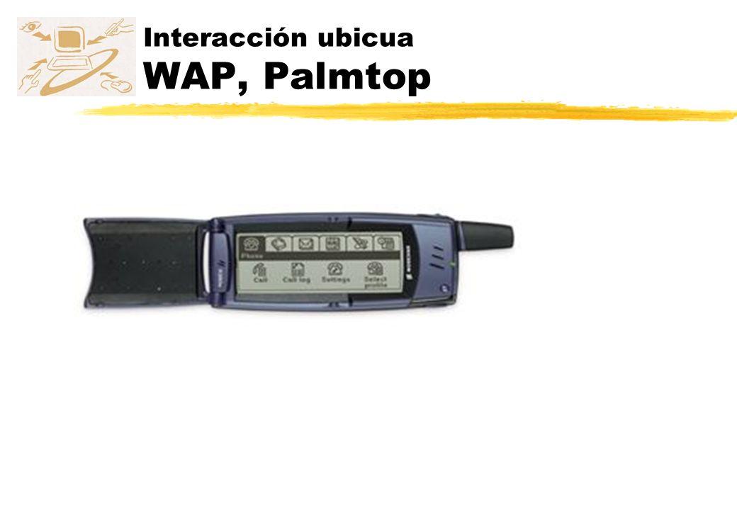 Interacción ubicua WAP, Palmtop