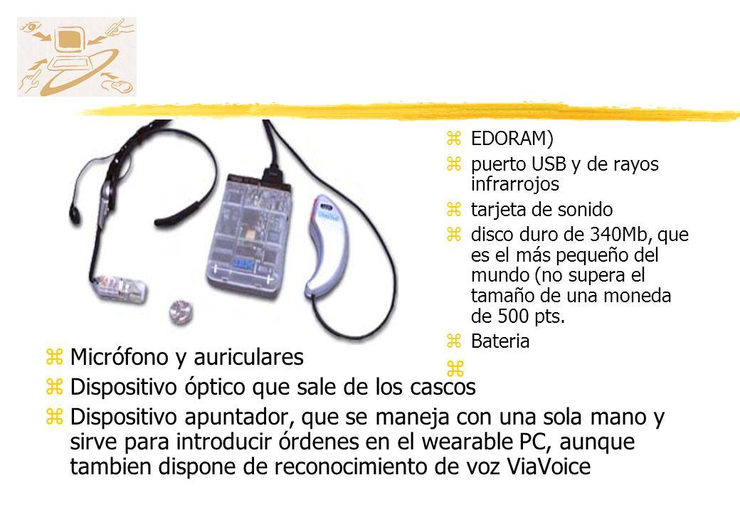 Micrófono y auriculares Dispositivo óptico que sale de los cascos