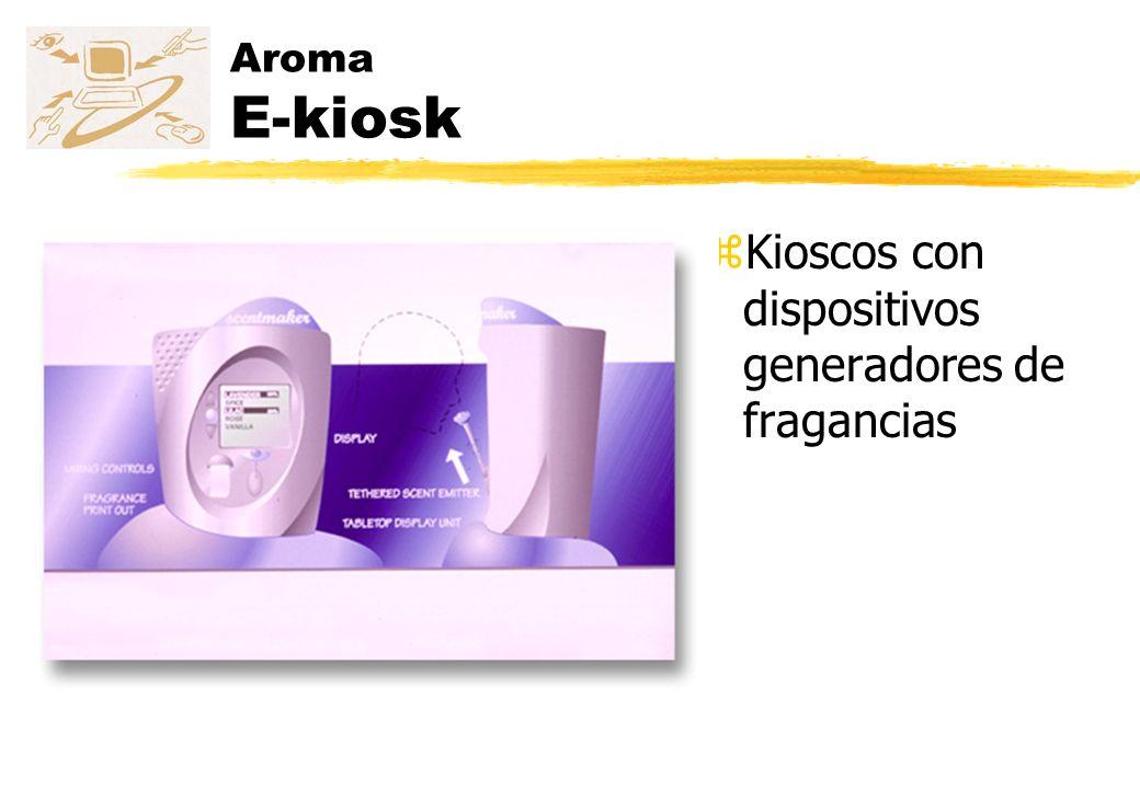 Kioscos con dispositivos generadores de fragancias